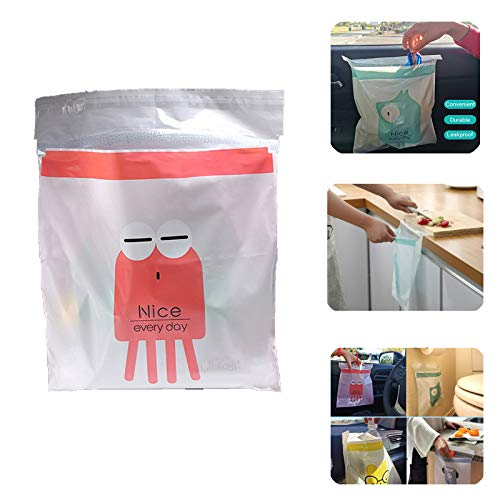 30pcs Easy Stick-On Disposable Car Trash Bags Car Leak Proof Vomit Bag Watertight, Beautiful Kitchen Storage Bag, Durable, Suitable for Cars, Kitchens, Bedrooms red