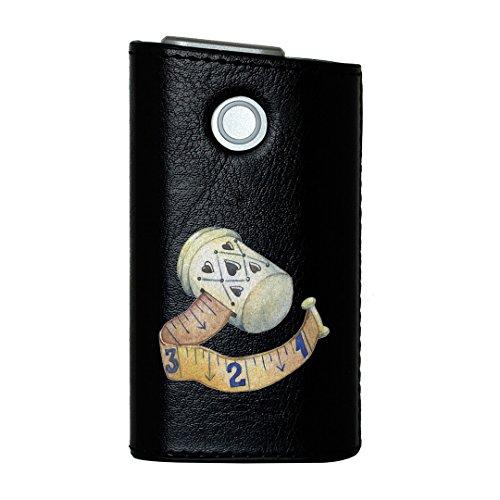 glo グロー グロウ 専用 レザーケース レザーカバー タバコ ケース カバー 合皮 ハードケース カバー 収納 デザイン 革 皮 BLACK ブラック 裁縫 道具 014164