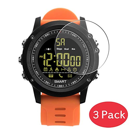 VacFun 3 Piezas Vidrio Templado Protector de Pantalla para Smartwatch Smart Watch EX17, 9H Cristal Screen Protector Alta Definición Película Protectora Reloj Inteligente Smartwatch Pulsera