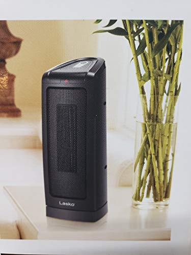Lasko Heater Electronic Heater Oscillating Ceramic Tower Heater, 16-Inch Model CT16550 - Fully Assembled - 16' Tall With Widespread Oscillation (Plastic, Black)