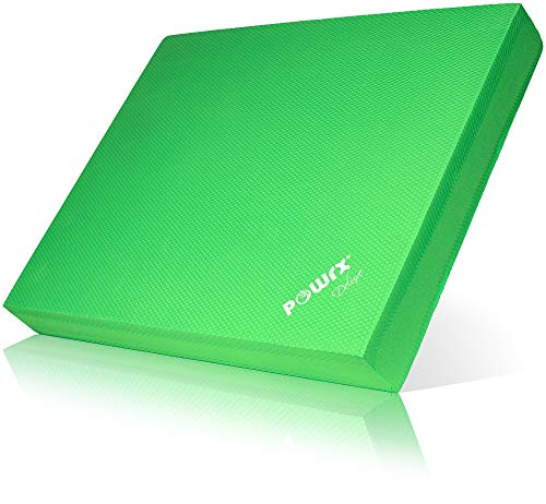 POWRX Balance Pad/Sitzkissen/Kissen Yoga Pilates (Grün)
