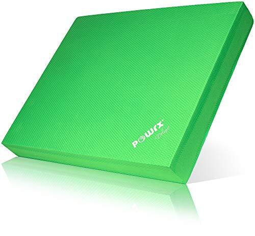 POWRX Balance Pad/Tapis d'entraînement/Coussin d'équilibre - Idéal pour Le Yoga, Le Pilates, la proprioception et la rééducation/Coloris différents (Vert)