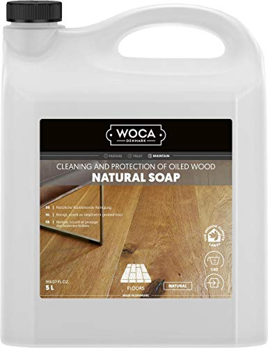 Woca 511050A Holzbodenseife, natur, 5 L