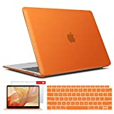 IBENZER New 2020 MacBook Air 13 inch Case M1 A2337 A2179 A1932, Hard Shell Case & Keyboard Cover & Screen Film for Apple Mac Air 13 Retina Display with Touch ID (2018-2020), Orange, AT13OR+2