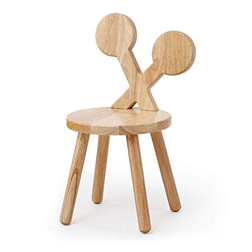 Shoe bench Verdickter runder Hocker aus massivem Holz mit Rückenlehne, Kreativer Hocker-Stuhl mit niedrigem Stuhl für Kinder, Kleiner Rest Hocker mit rundem Holzbankbein (größe : B)