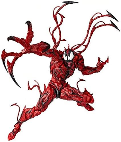 YURCNSA rojo veneno figura de acción increíble Spiderman Carnage anime acción PVC figura personajes móviles modelo estatua juguetes de escritorio adornos