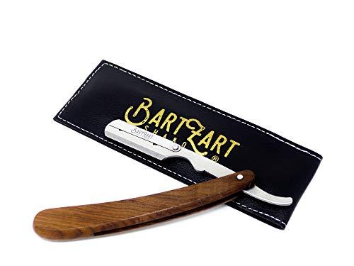 BartZart Rasiermesser mit Wechselklingen-System I Premium Rasiermesser Set mit Holzgriff inkl. Etui I Rasiermesser Herren I Bart Messer I Barber Tools