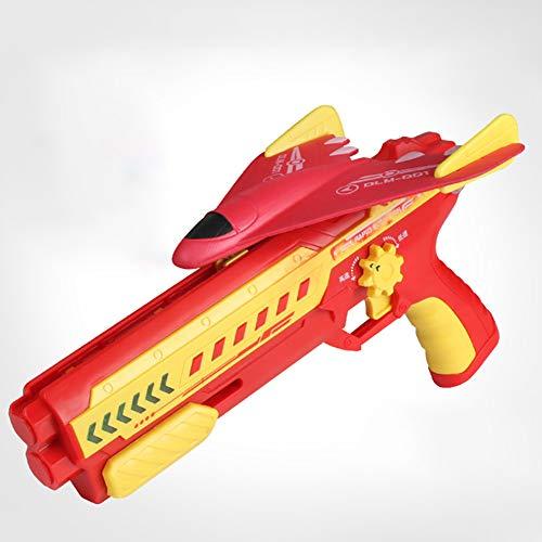 Firwood Bubble Catapult Plane, Catapult Plane Foam Air Battle Toy, con Luces LED, Velocidad De Cambio Ajustable, Shooting Game Toy para Niños, Regalo para Niños,Rojo