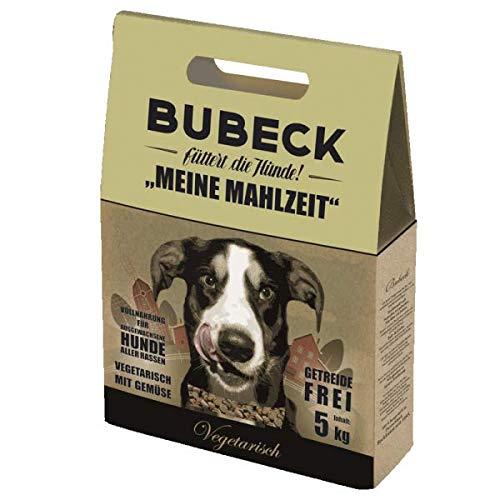 Bubeck Trockenfutter | Vegetarisch | getreidefreies Hundefutter | gebackene Vollnahrung für Hunde Aller Rassen | Adult | für futtersensible Hunde geeignet (5 Kg)