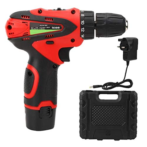 Lithium Drill Cordless Drill Electric Screwdriver 12V Drill Set Two-speed Red Battery Project Tool Useful power tools