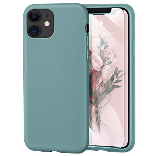 MILPROX iPhone 11 Case with Screen Protector, Liquid Silicone Gel Rubber Shockproof Slim Shell with...
