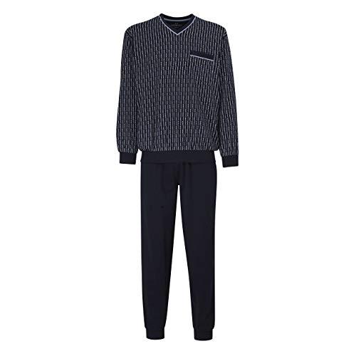 Götzburg Pyjama Herren Zweiteiliger Langer Schlafanzug aus Baumwolle 48