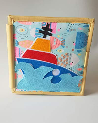 ChubbyCheeks Kid's Lets Sail Away 6 Page Busy Book (22 x 22 cm, 2-4 Years)