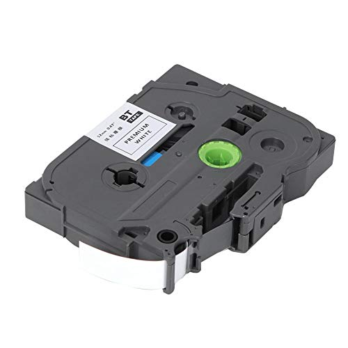 Etikettape, 12 mm gelamineerde labelprinter Etikettape-accessoires Zwart op wit Labelmaker Tape Geschikt voor Brother PT-E100 PT-D210 PT-E300 PT-D450 PT-P700 PT-18RZ PT-D900