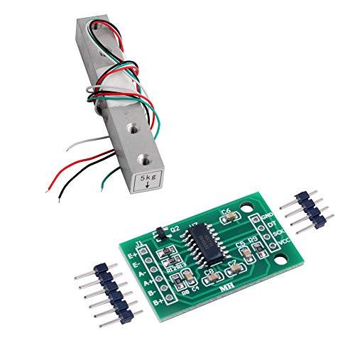 HX711 Gewichtssensor AD-Modul mit 5 kg Waage Wägezelle Gewichtssensor für Arduino Raspberry Pi DIY