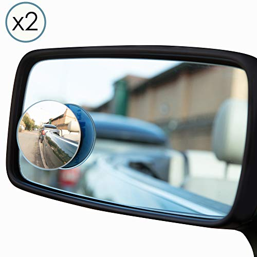 TRIXES 1 Paar Runde verstellbare Selbstklebende Konvexe Spiegel fürs Auto Nie Mehr Toter Winkel
