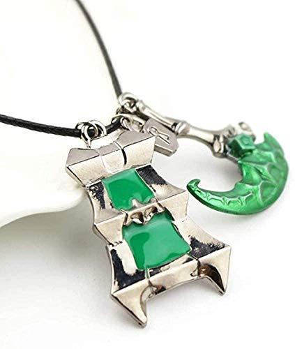 niuziyanfa Co.,ltd Collar de Arma Thresh, Linterna de aleación de Zinc y Hoz Bisopro League of Chain Warden Legends, Colgante de Regalo para Parejas