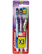 Colgate Zigzag Toothbrush Medium, 3 Pack Value Pack, Assorted Color