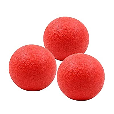 Panlom 3 Pack Dog Balls Indestructible - 100% Natural Rubber Bouncy Dog Ball Non-Toxic Tough Chew Toy for Small to Medium Dog