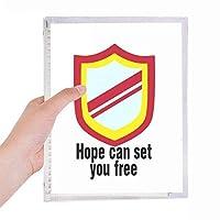 希望はあなたを自由にできる 硬質プラスチックルーズリーフノートノート