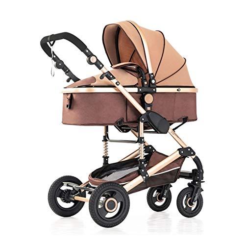 Cochecitos de peso ligero de alta vista ajustable para niños pequeños, cochecitos de rpemium del carruaje para niños y cochecitos para bebés con cochecito de ventilador de cochecitos en la cubierta de
