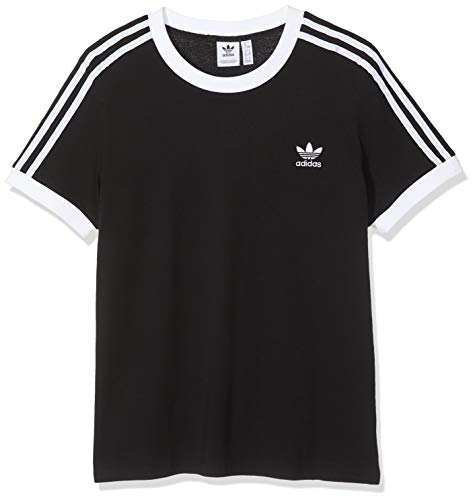 adidas Damen 3-Streifen Trainingsshirt, Black, D 36