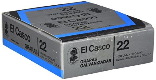 Grapas El Casco Nº 22. Pack de 30 cajas de grapas
