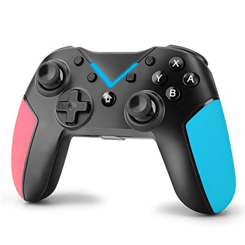 Molyhood Mando pare Nintendo Switch,  Bluetooth Wireless Controller Pro Switch Controlador Inalámbricos Switch Gamepad Joystick con Dual Shock,  Gyro Axis,  Turbo Controller para Nintendo Switch/Lite