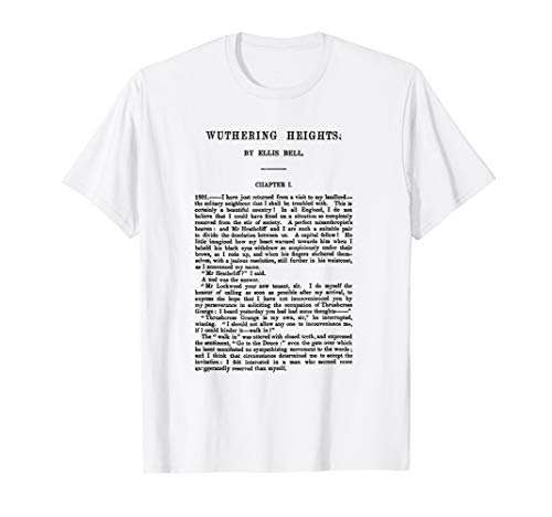 HIGH RESOLUTION Wuthering Heights Emily Bronte First Page T-Shirt