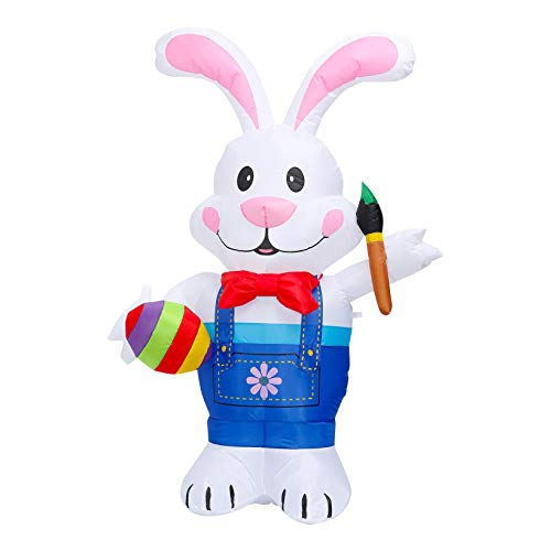 Easter Rabbit Bunny Mascot Inflatable Costume-Adult Size Fancy Dress Halloween, company, bars, clubs, dance party, parks, television programs cute Costume