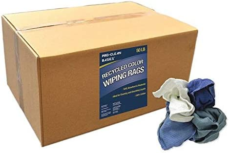 Recycled Woven Wiping Rags Box free shipping lb. 50 Very popular