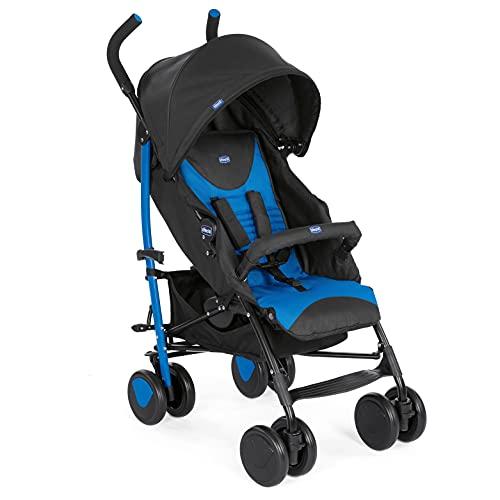 Chicco Echo - Silla de paseo, ligera y compacta, soporta hasta 22kg, color azul (Mr Blue)