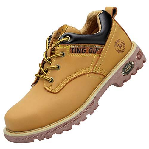 Kaister Herren Hohe Hilfe Arbeitsstiefel Paar Anti Smash-Sicherheitsschuhe für hohe Rohre Trainingsstiefel mit warmen Schuhen