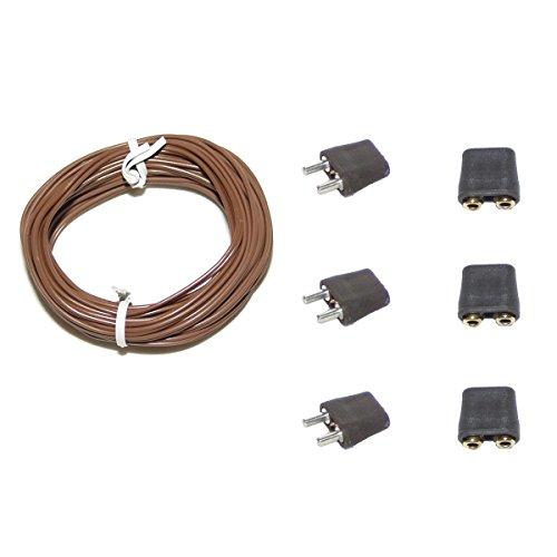 Alfred Kolbe Krippen AM 11 Weihnachtskrippen-Zubehör-Set 5m Kabel, 3 Stecker und 3 Steckverbindungen für 3,5-12 V Beleuchtung