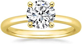 1 Carat Round Cut Solitaire Diamond Engagement Ring Eye Clean