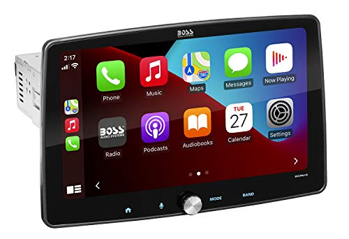 BOSS Audio Systems BCPA10 - Single Din Chassis with Detachable 10.1 Inch Capacitive Touchscreen, Apple CarPlay, Android Auto, Bluetooth, No DVD, RGB Illumination, High Resolution FLAC Audio