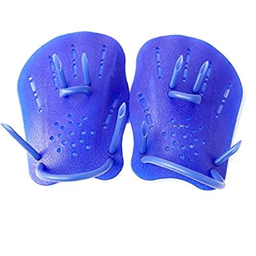 Las paletas de natación fuerza guantes de la mano de formación paletas Swim Eléctricas en adultos principiantes de natación para niños Azul L para el canotaje, kayak, natación, pesca, surf, playa