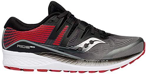 Saucony Men's Ride ISO Running Shoe, Grey/Black, 10 M US