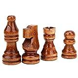 Garosa 32 Piezas de ajedrez de Madera, Piezas de ajedrez de Madera Solamente, Figuras, Juego de ajedrez, peones, Figuras, Piezas de Madera, Juego de ajedrez Internacional estándar