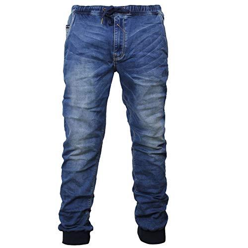 Yakuza Premium Herren Jogger Jeans YPJE 007 Blue Washed