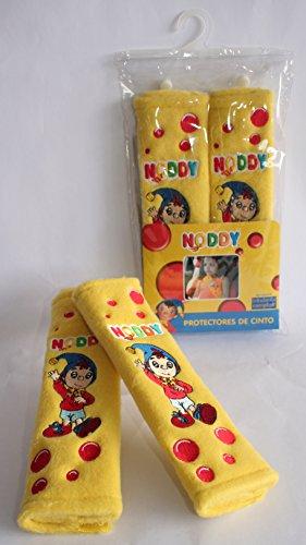 Noddy veiligheidsgordelbekleding met cartoon-motief. Niet alleen voor de veiligheidsgordel, maar ook voor rugzakken, koffers, boodschappentassen.