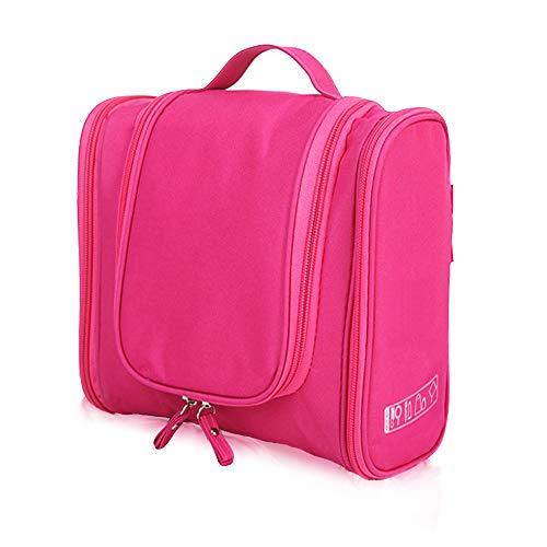 Aujelly Travel Toiletry Bag for Women, Men & Children Toiletry Bag Wash Bag Travel (Sky Blue), Rose red (Red) - FSGGXSB02-03