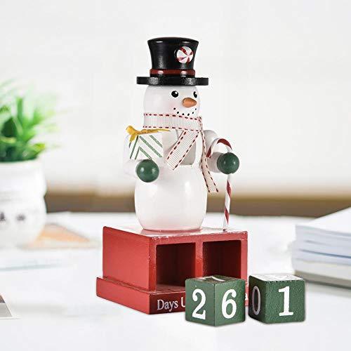 Cherishly - Cascanueces con Calendario de Adviento de Navidad, 100 de Madera, para decoración, 2 Unidades