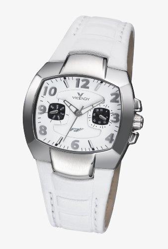 Viceroy 432024-05 - Reloj de Caballero de Cuarzo, Correa de Piel Color Blanco