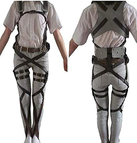 """SANXDI, Costume per cosplay di Mikasa Ackerman dell'anime """"L'attacco dei giganti"""", imbracatura dell'Armata Ricognitiva"""