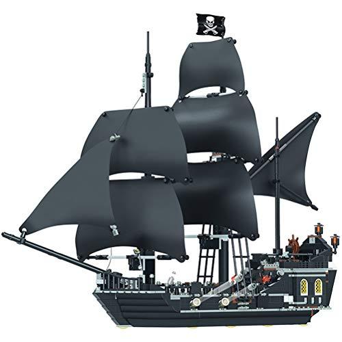Hbao 875 Uds Piratas del Caribe Bloques de construcción Juguetes Modelo Compatible con el Barco de Perlas Negras Juguetes de Ladrillos niños