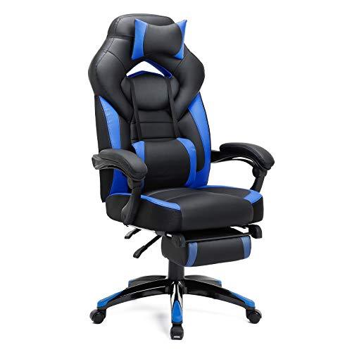 SONGMICS Gamingstuhl, Bürostuhl mit Fußstütze, Schreibtischstuhl, ergonomisches Design,...