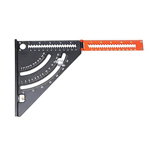 Regla de triángulo 2 en 1, herramienta de brazo extensible plegable de 6 pulgadas, soporte de aleación de aluminio sólido riangle portátil, luz ajustable cuadrado rápido, multi