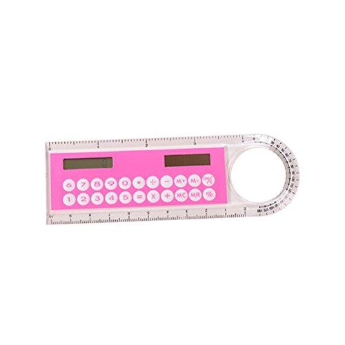 YeahiBaby Regla Calculadora aritmética de plástico con Regla para niños Escuela Oficina Regalos de Escritorio 10cm (Color Aleatorio)