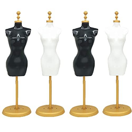 Maniquí Soporte Pantalla Vestido Muñeca Mini Maniquí Costura Mini Maniquí para Mini Maniquí, Forma de Mini Vestido, Modelo, Mini Muebles para el Hogar, Decoración de Bricolaje, Regalos (4 piezas)